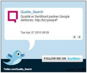 Publicidad de Google en Twitter