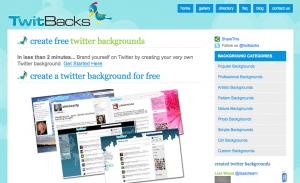 twittbacks fondo personalizado para Twitter