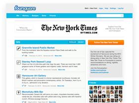 Paginas de empresas en Foursquare
